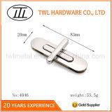 Silberner langer ovaler Metallhandtaschen-Beutel-Drehung-Verschluss-Torsion-Verschluss