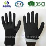 Покрытие нитрила, перчатки работы безопасности отделки Sandy (SL-NS115)