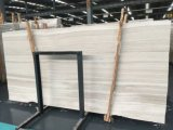 Petrifideの白い木製の白い穀物の磨かれた大理石の平板