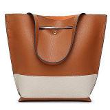 Nuova signora Bag di colore di contrasto delle borse del progettista del Tote di arrivo con la cinghia lunga Sy8435