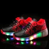 يبيطر يجعل في الصين مصنع [لد] خفيفة [رولّر سكت] أحذية لأنّ جدي رياضة حذاء رياضة جيّدة نوعية بكرة مخزون أو أمر سعر رخيصة