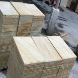 Arenaria gialla rossa grigia del patio di pavimentazione delle vene di legno esterne delle mattonelle