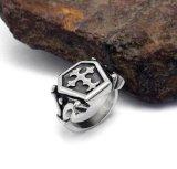 Negro de lanzamiento amplio de Matt del acero inoxidable del anillo de los hombres cruzados del fuego