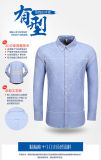 Los hombres visten camisa manga larga algodón camisas informales para los hombres de negocios