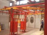 Ligne de revêtement par pulvérisation automatique de poudre