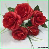 결혼식 훈장 도매업자를 위한 로즈 인공 꽃이 실크 가짜에 의하여 꽃이 핀다
