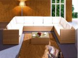 Mobilia esterna stabilita del rattan del PE del sofà della mobilia del sofà del rattan