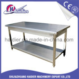 Het Karretje van de Lijst van het Werk van het Roestvrij staal van de Apparatuur van de keuken met Plank