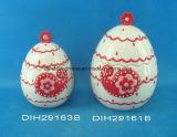 Vaso Egg-Shaped di ceramica dipinto a mano di memoria