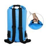 Sacchetto asciutto impermeabile di nuoto, sacco asciutto superiore del rullo con le cinghie di spalla doppie per il campeggio Kayaking di canottaggio