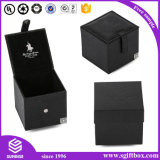 Лидирующая изготовленный на заказ коробка вахты подарка ювелирных изделий Velet кожаный Perper