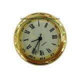 安い小型水晶時計は銀製の小さい金属のクロックギフトを挿入する