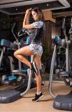 Kundenspezifische Pflaume-Blüten-Drucken-Eignung, die feste Gleiten-Haut-justierbare Sportkleidung ausbildet