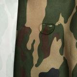 上塗を施してある軍隊は100%年のポリエステルオックスフォードファブリックのファブリックをごまかす