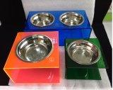 De Voeder van het huisdier voor Kleine die Honden & Katten met de AcrylKommen van de Tribune & van het Roestvrij staal worden gemaakt