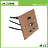 HDMIケーブルが付いているアルミ合金の前面プレート86のタイプ金属の前面プレート