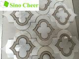 Modelos Waterjet de mármol de los azulejos de mosaico