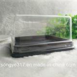 Caixa descartável transparente quadrada da bolha de 3 polegadas