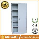 Gabinete de arquivo de aço de aço da porta deslizante de gabinete de armazenamento do metal da mobília de escritório