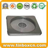 Het vierkante CD Geval van het Tin met Ritssluiting, de Doos van het Tin DVD van het Metaal