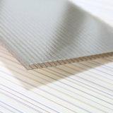 Hoja cristalina de la depresión de la cubierta del policarbonato para el Natatorium claro