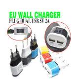 El fabricante 5V2.1A de los accesorios del teléfono móvil se dobla cargador de la pared del recorrido del USB