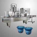 과일 요구르트 컵 충전물과 필름 밀봉 기계