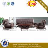 Oficina de cuero auténtico sofá, muebles de oficina, el ocio sofá (HX-CS082)