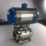 Válvula de esfera pneumática dobro da bolacha de Italy com pressão 150lb