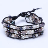 Perlen-ledernes Schmucksache-Armband mit handgemachter neuer Art