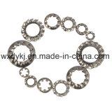 Les dents internes et externes d'acier inoxydable DIN 6797 ont crénelé la rondelle de freinage