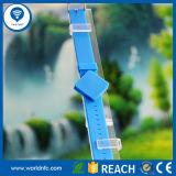 125kHz et 13.56MHz Smart RFID NFC Silicone Wristband avec impression