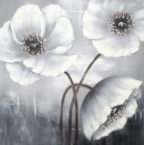 Einfaches modernes Lotos-Blumen-handgemachtes Ölgemälde