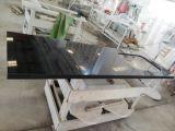 純粋で黒い設計された水晶石の台所Benchtops Worktops