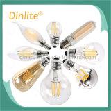 Larga vida Vintage ST64 LED 8W Las lámparas de filamentos