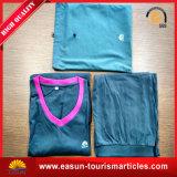 Pigiami lunghi del manicotto di colore solido di alta qualità, fornitore in volo degli indumenti da notte