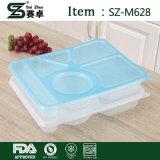 덮개를 가진 처분할 수 있는 6개의 격실 플라스틱 음식 콘테이너