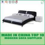 Америки современные спальни, двуспальная кровать из натуральной кожи