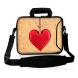 Neoprene Laptop Sleeve 15.6 Computador Messenger Bag 10 11.6 13.3 14 15.4 17.3 polegadas Shoulder Laptop Bag Handle PC Protective Case