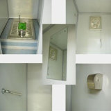 거품 포위된 가장 청결한 이동할 수 있는 화장실