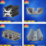 Dissipatore di calore di alluminio anodizzato di profilo per silicone controllabile