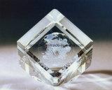 кубик кристаллический стекла 3D выгравированный лазером пустой K9 для сувенира