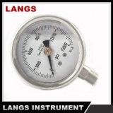 037 calibres de pressão do petróleo hidráulico do manómetro do aço inoxidável