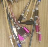 Buntes Gewebe gesponnenes USB-Daten-aufladenkabel für Blitz Mikro-USB-Einheiten