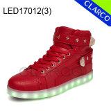 Los adultos de zapatillas de deportes de invierno botas de luz LED superior sintética con