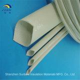 Gainer tressé de fibre de verre de silicones approuvés de RoHS d'extension d'UL