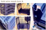 Caixa/recipiente Foldable do engranzamento de fio do metal do armazenamento do armazém para a venda