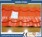 Hojas acanaladas prepintadas color del material para techos de Ral