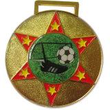 Médaille matérielle en laiton de souvenir de parcs d'attractions d'or