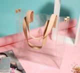 Viagem impermeável impressão cosméticos PVC sacos de mão